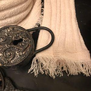 Love Scarlett Sweaters - ̶ ̶$̶8̶0̶  NEW Fringe Ribbed Knit Zip Sweater NWT